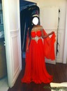 brune robe rouge
