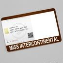 Miss Intercontinental Card