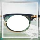 cadre fond de mer 1 photo dans une moitié de lunette