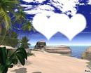 coeur a la plage