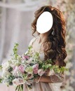 chica con ramo de flores