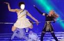Visage danseur avec Madonna