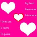 Je t'aime (anglais, français, espagnol)