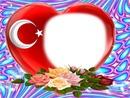 kalp bayrak gül