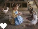 La fille et ses poules
