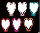 cadre coeur 6 photos