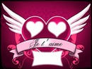 coeur je t'aime + 3 cadres