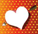 coeur jaune et rouge