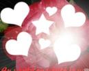coeur avec fleurs rose