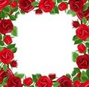 Rózsás keret