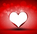 coeur rouge sur fond rouge
