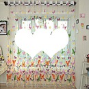 rideaux papillons multicolores avec 2 coeurs photos