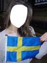 Sweden flag in Beautiful Girl