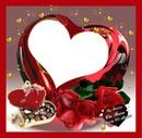 corazon cristal rojo
