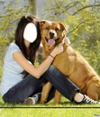 selena with dog