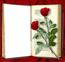 flores en libro