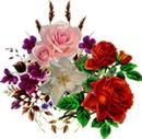 Des fleurs pour les enfants et petits enfants.