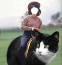 fille sur chat geant face1photo