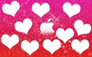 fond rose de coeur