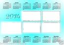 calendrier 2014 avec 5 cadres