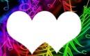 coeur comme les notes de musique