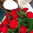 renewilly chica con rosas rojas