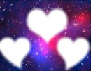 galaxy 3 carde en coeur