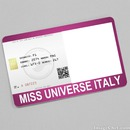 Miss Universe Italy Card