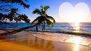 coucher de soleil paradisiaque