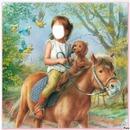 fillette a cheval