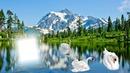 Cadre lac & montagne