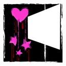 Emo Coeur étoiles rose