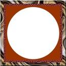 cadre carré marron