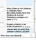 Chat con Martina Stoessel (Tini Stoessel)