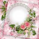 Cc Detalle de cadena y rosas