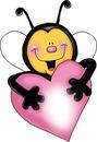Cc abeja corazón