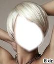 blonde platine au cheveux court