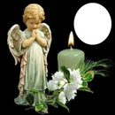 angel by candle