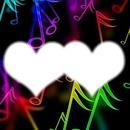 l'amour comme les notes de musiques