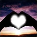 Coeur amour coucher de soleil