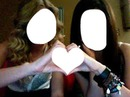 Heart with friends