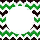 chevron green black white