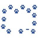 cadre empreintes chiens 1 photo