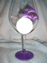 purple dolphin wine glass