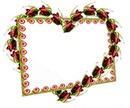 1 cadre dans un coeur fleurs 1 photo