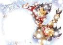 vegeta et songoku font un bonhomme de neige