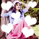 Collage de corazones de Tini Stoessel
