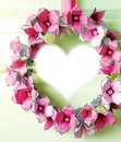 coração de flores