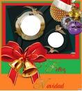 navidad con dos circulos