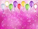 anniversaire ballons rose